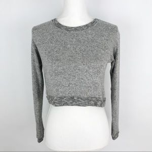 Brandy Melville Grey Long Sleeve Cropped Sweater